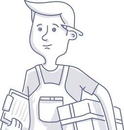 Postman / Delivery Man Doodle